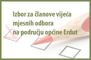 Izbor za članove vijeća mjesnih odbora na području općine Erdut 2015